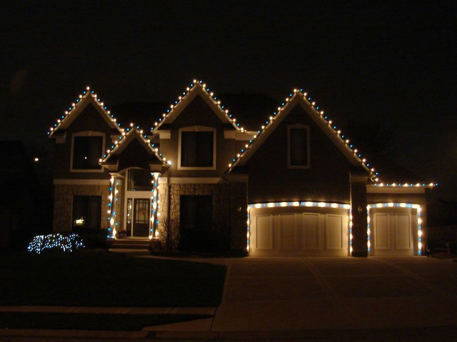 Ottawa House With Christmas Lights Modern